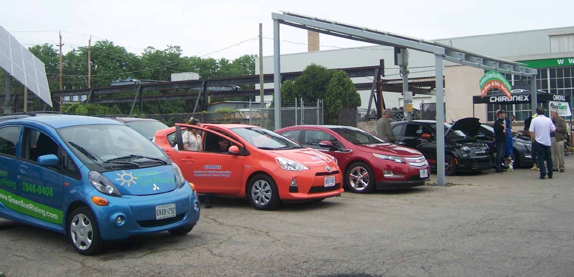 Mitsubishi MiEV, Toyota Prius, Chevrolet Volt, Fiat 500e