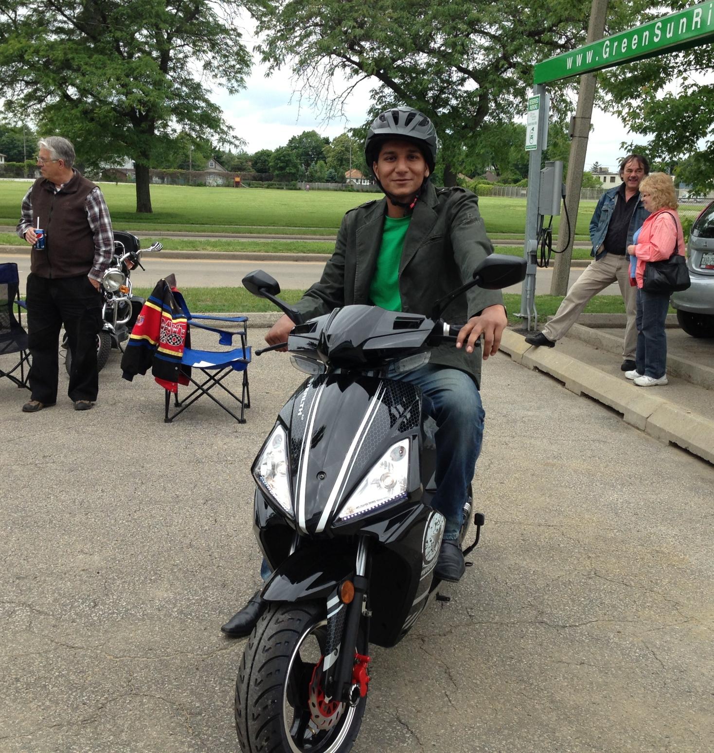 Varinder on E-bike